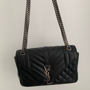 Saint Laurent Bag Envelope Small Black cross body
